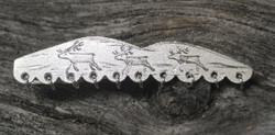 Solmioneula porot tunturissa, renkaat alareunassa, 830-hopea