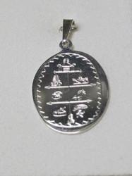 Hopeariipus Noitarumpu shamaanimerkein 925-hopea