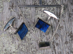 Kalvosinnapit Spektroliitti, 925-hopea