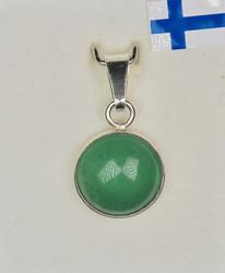 Hopeariipus vihreä aventuriini pyöreä 10mm