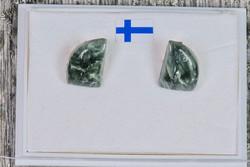 Klipsikorvakorut klinokloori purje 9x12mm 925-hopea