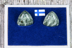Klipsikorvakorut klinokloori kolmio 14mm  925-hopea