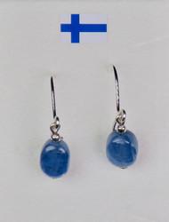 Korvakorut: Kyaniitti, sininen, ovaali 6x8mm