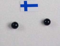 Nappikorvakorut onyksi onyx musta 4mm