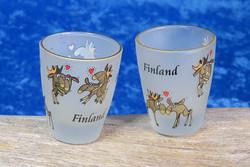 Snapsilasi Hirvet rakastelemassa, Finland, huurrettu