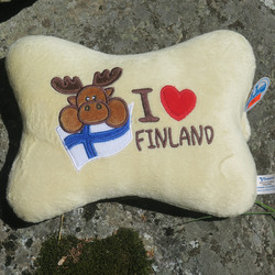 Tyyny hirvi, suomen lippu, I sydän Finland. Vaaleanruskea.