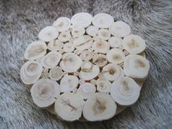 Lasinalunen/pannunalunen: kataja, halkaisija 8,5cm
