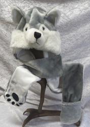Talvihattu Husky koko L-XL  pitkissä tassuissa paikka sormille