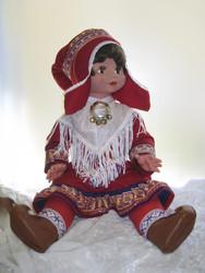 Nukke Lapinnukke 60 cm tyttö lapinpuvussa