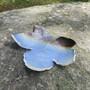 Lautanen Lehti siniruskea 20cm, keramiikkaa