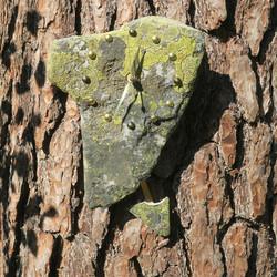 Heilurikello kvartsiitti sammalkivi seinäkello 26x18cm 310-XZ