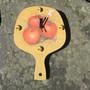 Seinäkello omenat, siilit tunnin merkkeinä leipälapion mallinen 30cm