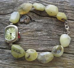 Rannekello: Opaali, keltainen, lukko 925-hopea-silver