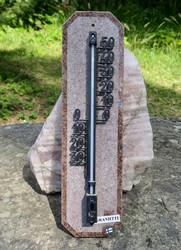 Lämpömittari graniitti punainen 33x9cm Suomi nroE