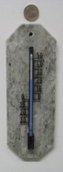 Lämpömittari: Marmori 22x8cm, kulmat viistottu