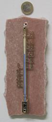 Lämpömittari: Marmori 19x8cm, punainen, lohkoreunat