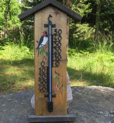 Lämpömittari Tikka puuta, korkeus 60cm