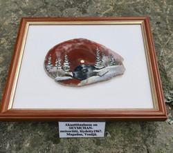 Taulu 4  Seymchan meteoriittia ja spektroliitti akaatilla