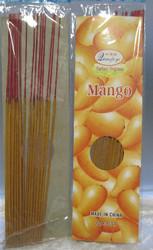 Suitsuke: Mango, pakkauksessa  20 kpl 28cm pitkiä suitsukkeita