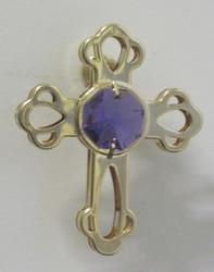 Magneetti: Risti, kultakristalli, violetit kristallit ja 24 karaatin kultaus.