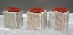 Tuikkualusta: Marmoria 3kp setti (vihreä/vaaleanpunainen, kimalteleva)
