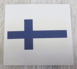 Tatuointitarra Suomenlippu 25x44mm tattoo, poskitarra