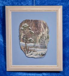 Taulu: Talvimaisema, kivimurskataulu