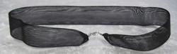 Riipusnauha musta, kaksinkertainen 43cm leveys 25mm,  lukko 925-hopea