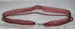 Riipusnauha viininpunainen 43cm 3-kertainen lev 13mm lukko 925-hopea