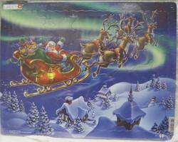 Palapeli: Joulupukki ja porot lentää 28,5x36,5cm, 26 palaa