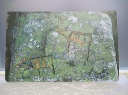 Pöytätabletti Kalliomaalaus, muovia 28x43cm