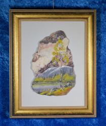 Taulu: Keltainen koivu, kivimurskataulu. (D)