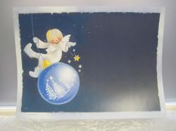 Pöytätabletti enkeli keinuu joulupallolla 30x40cm, paperia