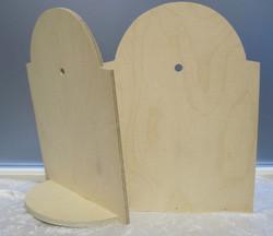 Kellotarvikkeet kellopohja 19,5x26,5cm, 6mm isolle pöytäkellolle