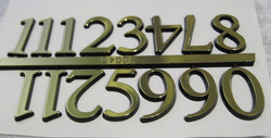 Kellotarvikkeet numerot kullan väriset itseliimautuvat muovia 25mm