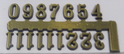 Kellotarvikkeet numerot, itseliimautuvat, muovia, korkeus 10mm
