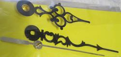 Kellotarvikkeet osoittimet koristeelliset mustat 60-85mm, metallia