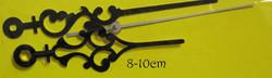 Kellotarvikkeet osoittimet, koristeelliset, mustat, 80-100mm, metallia