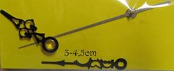 Kellotarvikkeet osoittimet koristeelliset mustat 30-45mm, metallia