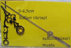 Kellotarvikkeet osoittimet koristeelliset kullan väriset 30-45mm metallia