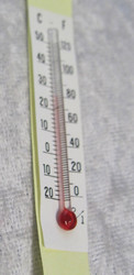 Lämpömittari, pituus 55mm, paperia