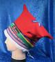 Talvihattu 4-tuulen lakki, punainen, koko 60-61 säädettävä