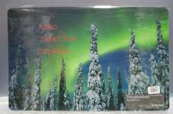 Pöytätabletti Revontulet ja tykkylumiset puut. 2 kpl 28x43cm muovia