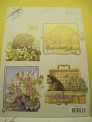 Korttikuva: A6 arkki kissat, 4 erilaista
