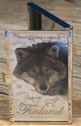Käyntikorttikotelo Susi, 9x6cm, metallinhohtoinen