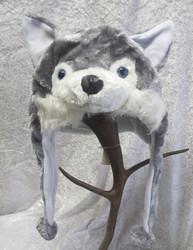 Hattu husky koira vuorillinen talvihattu, aikuisten koko