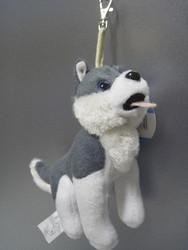 Laukkukoriste, pehmolelu, maskotti pehmolelu husky koira