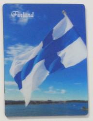 3D-magneetti: Suomen lippu, koko 6x8cm