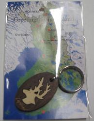 Avaimenperä poron pää, Lapland, puuta