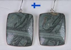 Hopeakorvakorut tinguaiitti  kivi 28x35mm ISOT
